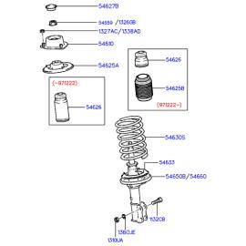 Отбойник амортизатора переднего Hyundai Accent (2001-2006)