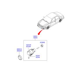Фара противотуманная (ПТФ) левая Hyundai Sonata 4 (2001-2012)