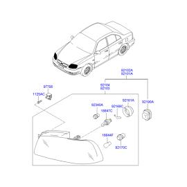 Фара левая Hyundai Accent (2001-2006)