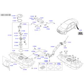 Мотор топливного насоса Hyundai Solaris (2010-н.в.)