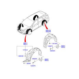 Подкрылок задний левый Hyundai i40 (2012-н.в.)