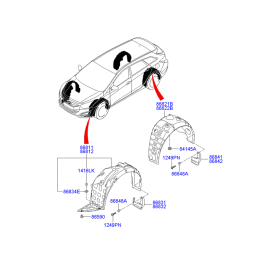 Подкрылок передний правый Hyundai i40 (2012-н.в.)