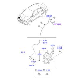 Насос омывателя Hyundai Getz (2002-2011)