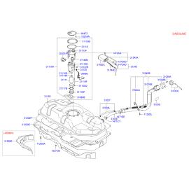 Насос топливный в сборе Hyundai Getz (2002-2011)