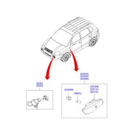Фара противотуманная (ПТФ) левая Hyundai Tucson 1 (2004-2010)