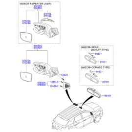 Зеркало правое электрическое Hyundai ix35 (2009-2015)