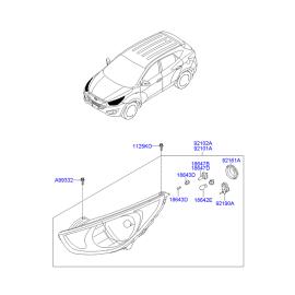 Фара правая Hyundai ix35 (2009-2015)