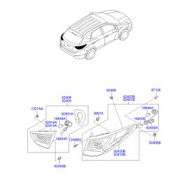 Фонарь левый наружный Hyundai ix35 (2009-2015)