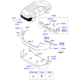 Фонарь противотуманный (ПТФ) задний правый Hyundai ix35 (2009-2015)