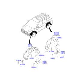 Брызговик задний правый Hyundai ix35 (2009-2015)