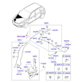 Насос омывателя Hyundai i30 I (2007-2012)