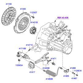 Цилиндр сцепления рабочий Hyundai i30 I (2007-2012)