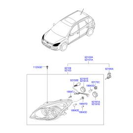 Фара правая Hyundai i30 I (2007-2012)