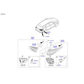 Фонарь правый внутренний (корпус) Hyundai i40 (2012-н.в.)