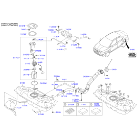 Фильтр топливный Hyundai Santa Fe 3 (2012-н.в.)