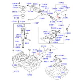 Насос топливный в сборе Hyundai Elantra 4 (2006-2010)