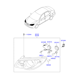 Фара правая Hyundai Elantra 4 (2006-2010)