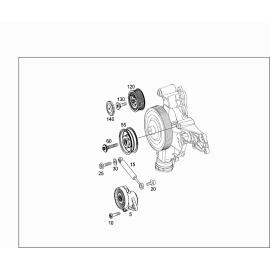 Амортизатор натяжителя ремня приводного Mercedes C-klass W204 (2007-2015)