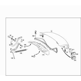 Амортизатор крышки багажника Mercedes S-klass W221 (2005-2013)