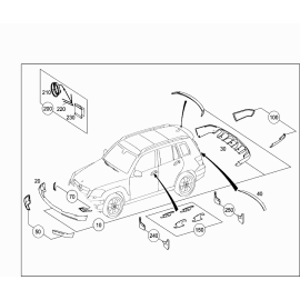 Брызговики задние Mercedes GLK-klass X204 (2008-2015)