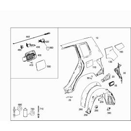 Подкрылок задний правый Mercedes GLK-klass X204 (2008-2015)