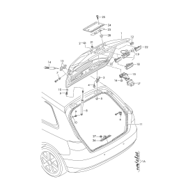 Амортизатор крышки багажника левый Audi A3 8V (2012-н.в.)
