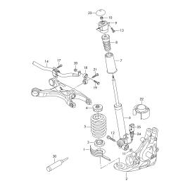 Отбойник амортизатора заднего Audi A4 B8 (2007-2015)