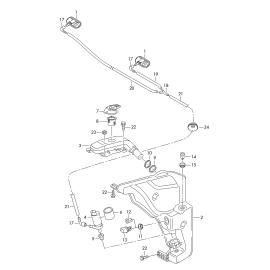 Бачок омывателя Audi Q5 8R (2008-2017)
