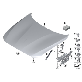 Амортизатор капота BMW 1 F20 (2011-2015)