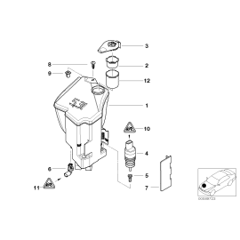 Бачок омывателя без системы омывания фар BMW 3 E46 (1998-2006)