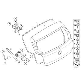 Амортизатор крышки багажника BMW 1 E87 (2004-2011)