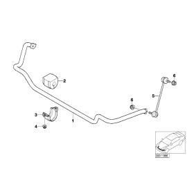 Втулка переднего стабилизатора (D=24 мм.) BMW 3 E46 (1998-2006)