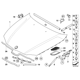 Амортизатор капота BMW 3 E90 (2005-2012)
