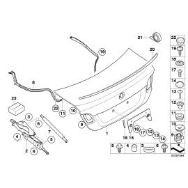 Амортизатор крышки багажника BMW 3 E90 (2005-2012)