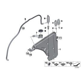 Бачок омывателя с системой омывания фар BMW 1 F20 (2011-2015)