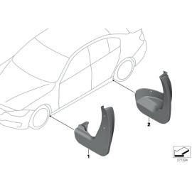 Брызговики передние комплект BMW 3 F30 (2012-н.в.)