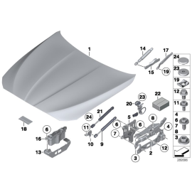 Амортизатор капота BMW 5 F10 (2010-2016)