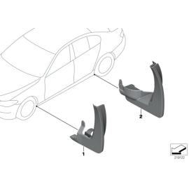 Брызговики задние комплект BMW 5 F10 (2010-2016)