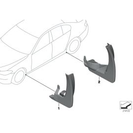 Брызговики передние комплект BMW 5 F10 (2010-2016)