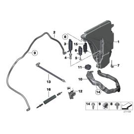 Бачок омывателя BMW 7 F01 (2008-2015)