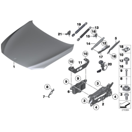 Амортизатор капота BMW 7 F01 (2008-2015)