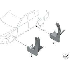 Брызговики задние комплект BMW 7 F01 (2008-2015)