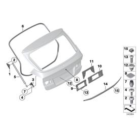 Амортизатор крышки багажника BMW X1 E84 (2009-2015)