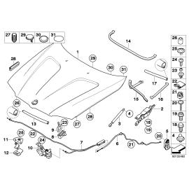 Амортизатор капота BMW X3 E83 (2006-2010)