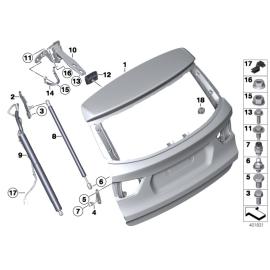 Амортизатор крышки багажника BMW X3 F25 (2010 - н.в.)