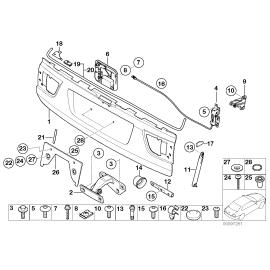 Амортизатор нижней крышки багажника BMW X5 E53 (1999-2006)