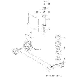 Отбойник амортизатора заднего Chevrolet Aveo T250 (2006-2012)