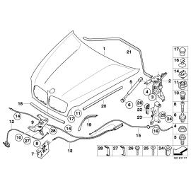 Амортизатор капота BMW X6 E71 (2008-2014)