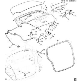 Амортизатор крышки багажника правый Chevrolet Spark M300 (2010-2015)