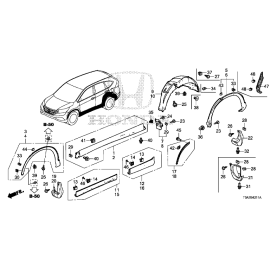 Брызговик задний правый Honda CR-V 4 (2012-2016)